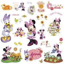 PEEL & STICK MINNIE MOUSE BARNYARD CUTIES