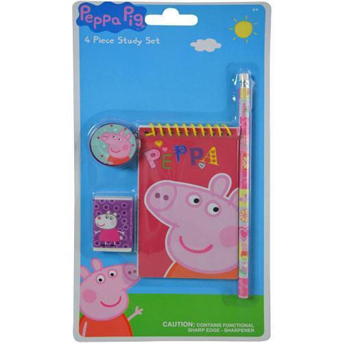 PEPPA PIG 4PK STUDY KIT