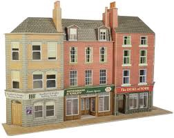 Metcalfe #PO205 OO/HO Low Relief Pub and Shops