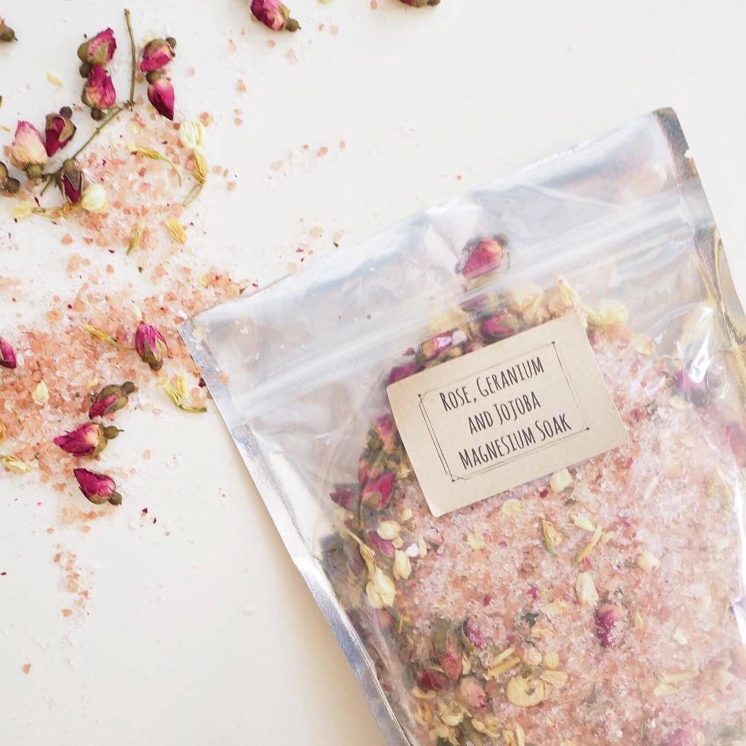 Magnesium Bath Soak - Rose, Geranium and Jasmine