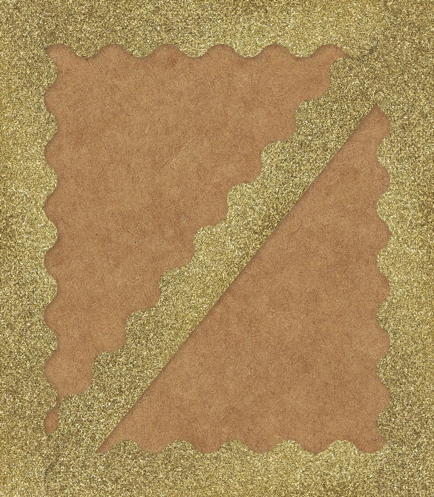 CD 108319 GOLD GLITTER BORDER
