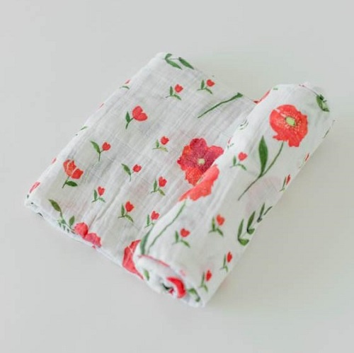 Cotton Swaddle | Summer Poppy