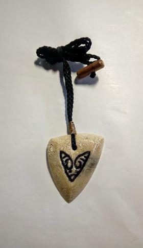 arrowhead pendant whalebone