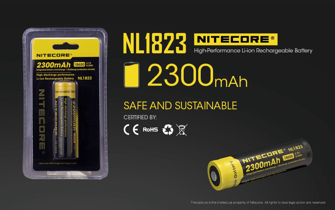 Nitecore 18650 Battery 2300 Alazame Outdoor Gear Protection Circuit