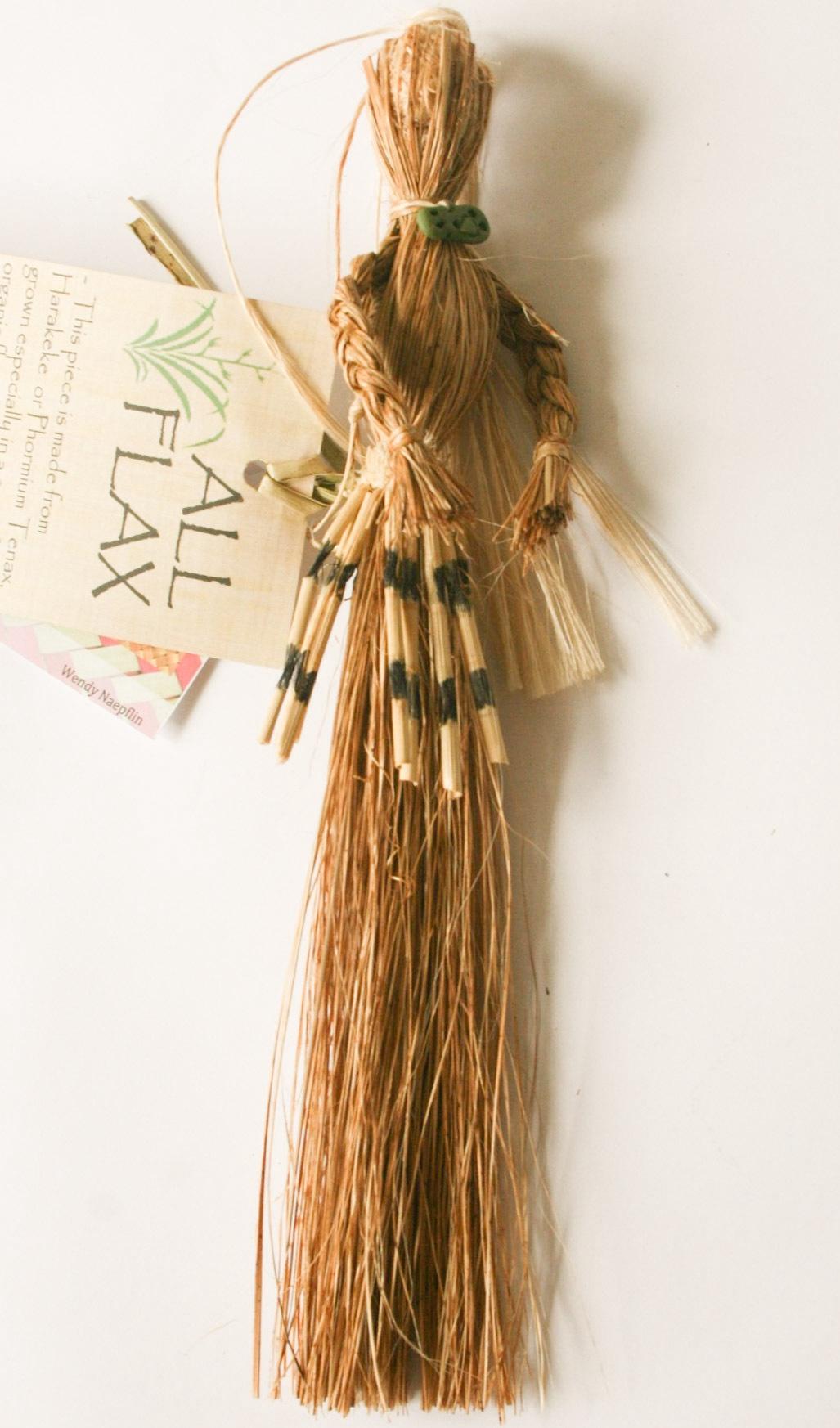 Flax Lady Muka and Piupiu Black Tiki
