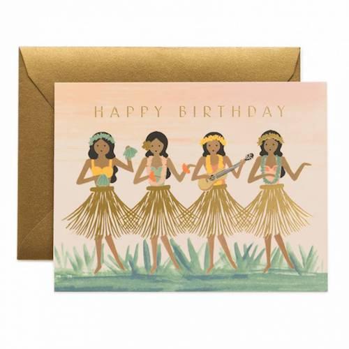 Hula Birthday Card