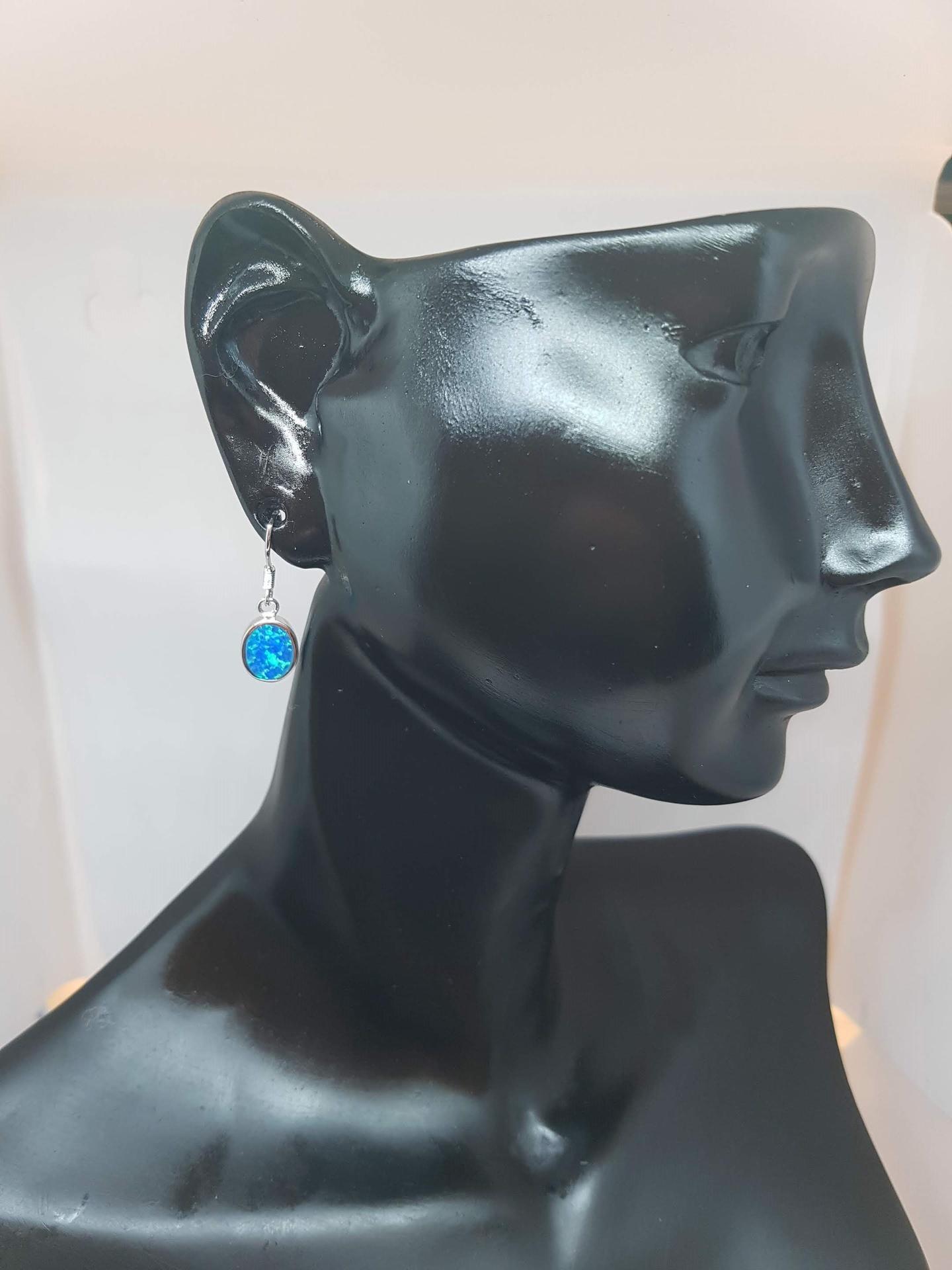 Lab Opal Earrings