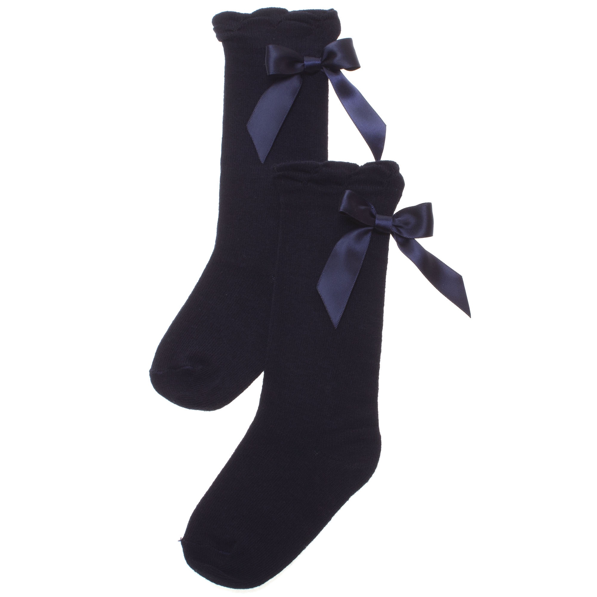 7b26396a592 Pex Ribbon Knee High Socks NAVY