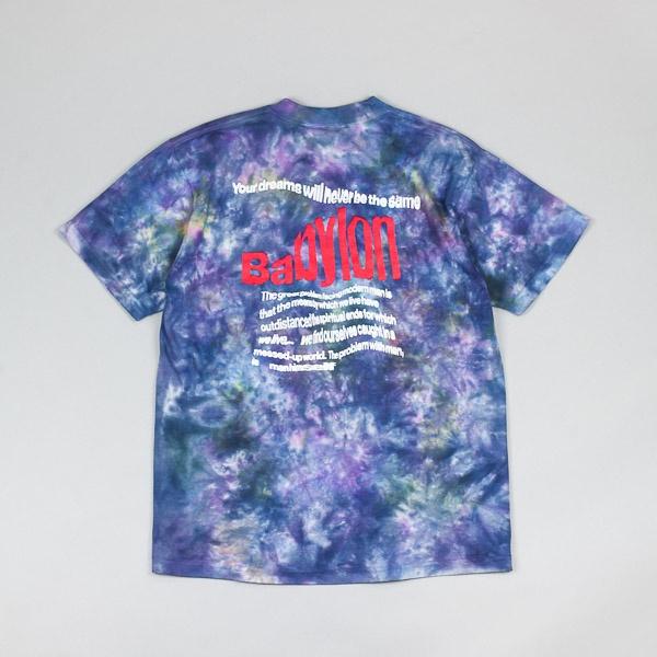 Babylon Warp Dye Tshirt Blue