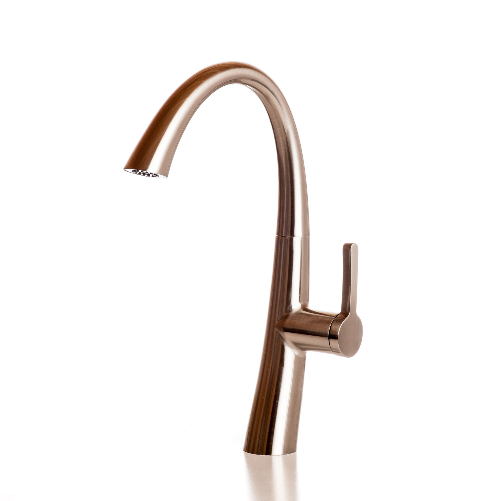 Faucet Kitchen Angled With Pull Down Spray - Brushed Nickel