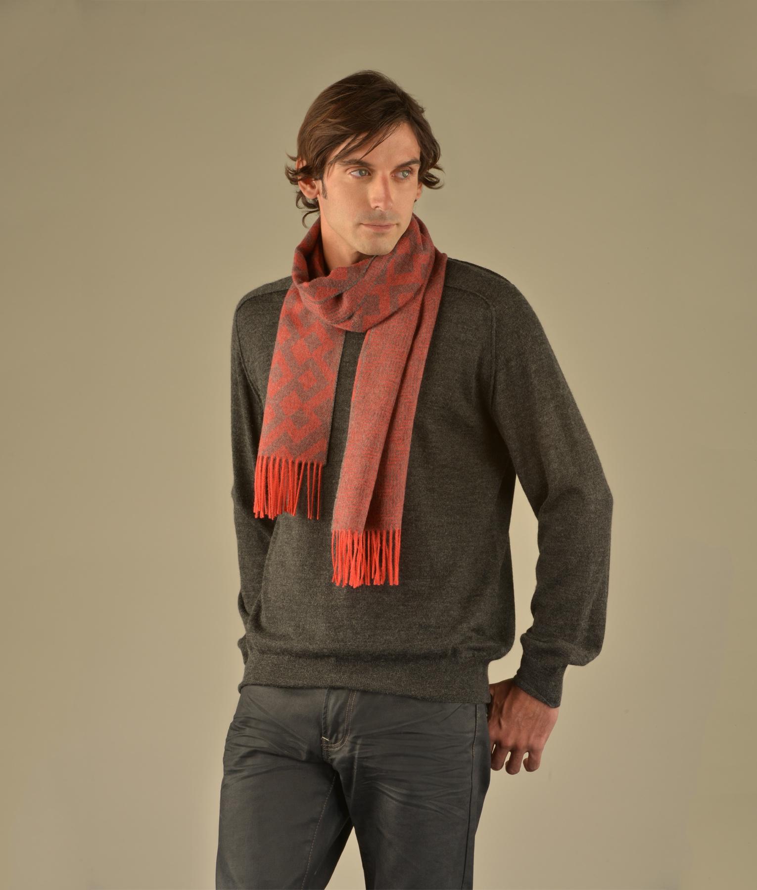 Reversible tiny motif scarf C003