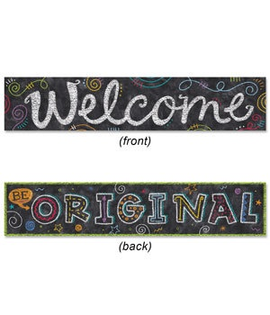 CTP 8147 CHALK IT UP 2 SIDED BANNER