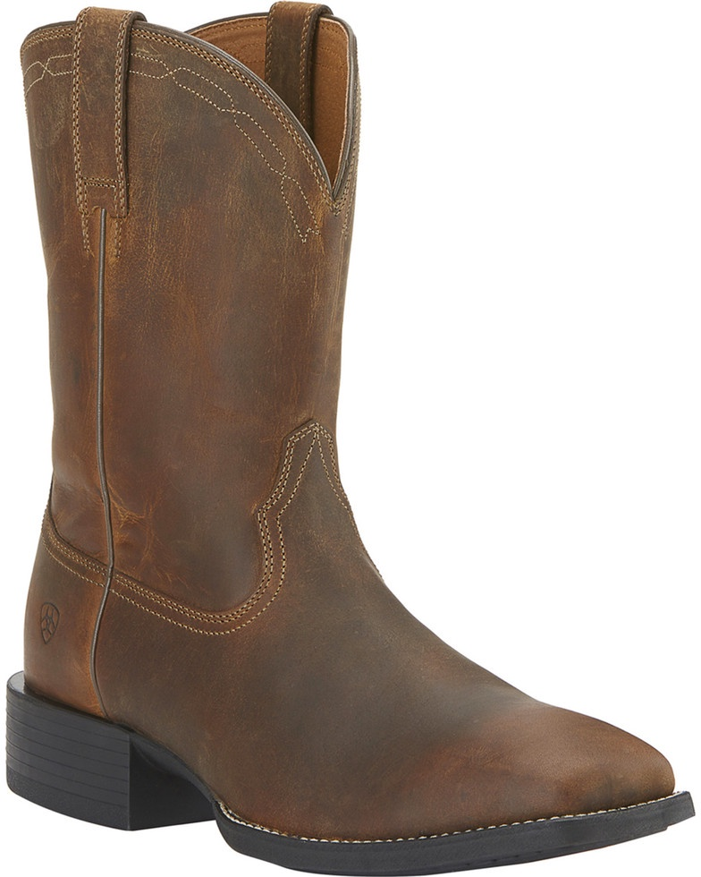 b939684274e Ariat Women's Boots Heritage Roper Wide Square Toe Distressed Brown ...