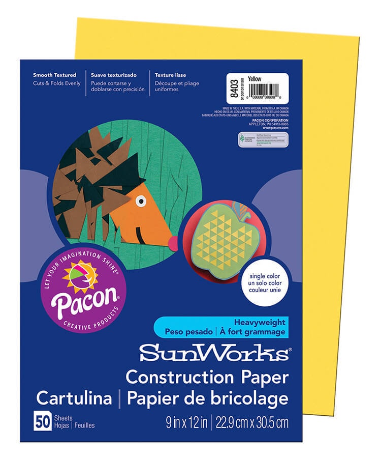 PA 8403 CONSTRUCTION PAPER 9 X 12 YELLOW