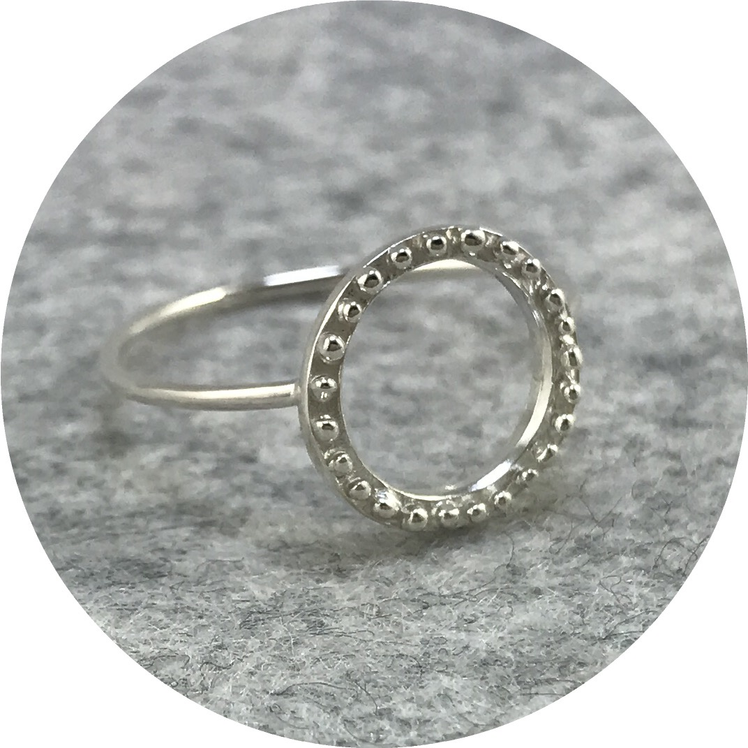 Abby Seymour- Sunset ring. Sterling Silver.