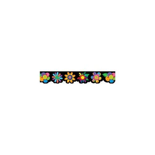 X CTP 1041 POPPIN' PATTERNS SPRING FLOWERS BORDER