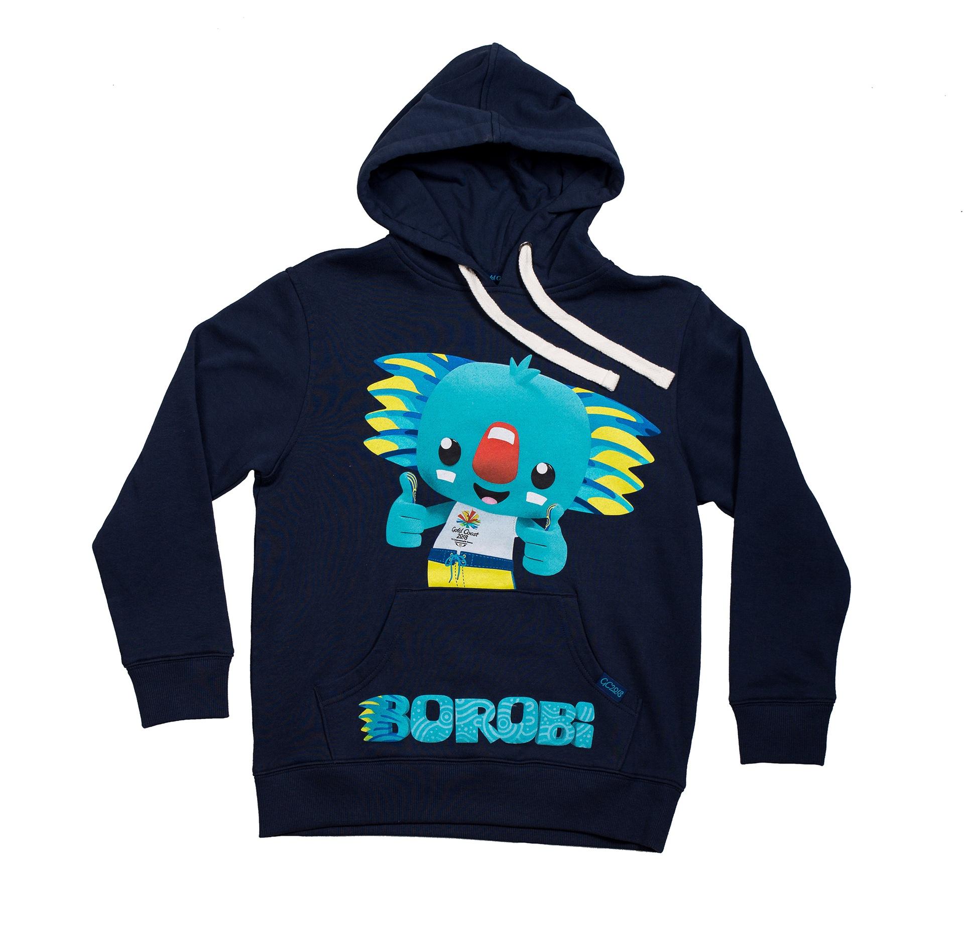 Junior Borobi Mascot Hoodie Image