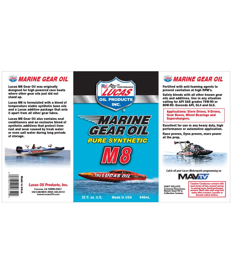 10652- LUCAS MARINE GREASE OIL M8 946ML