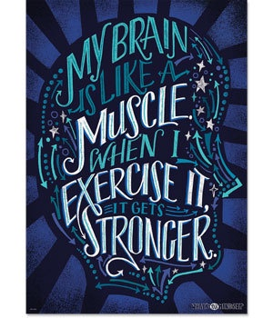 CTP 8178 MY BRAIN IS LIKE A MUSCLE...INSPIRE U POSTER