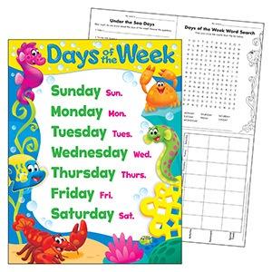 X T 38351 SEA BUDDIES DAYS OF THE WEEK CHART