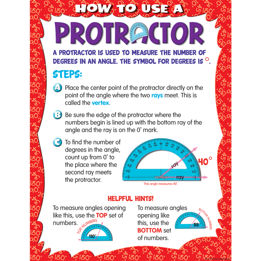 X TCR 7730 HOW TO USE A PROTRACTOR CHART