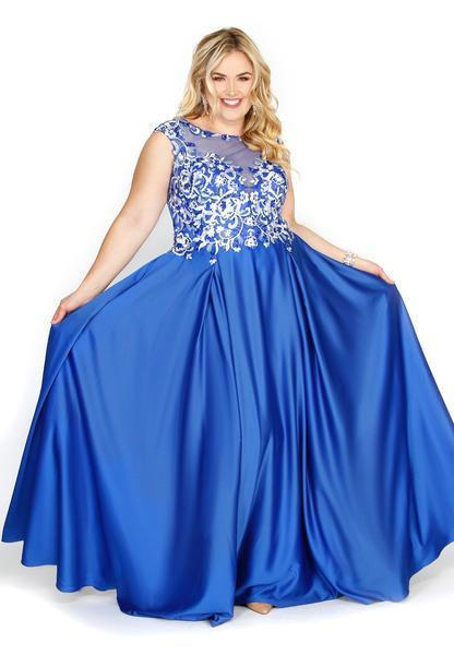 Blossom Formal Dress Royal Blue
