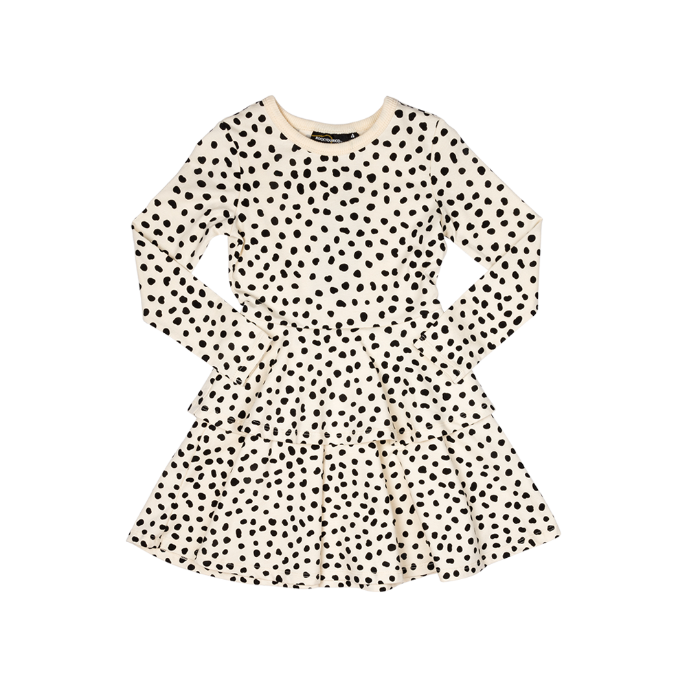 638285d46f0 Spot on oatmeal-LS Waisted Dress