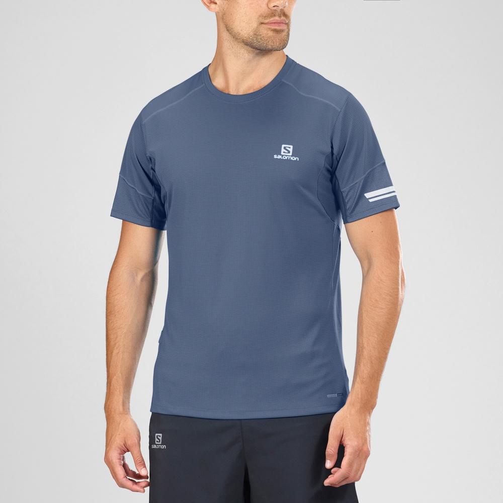 e8c4e054a1 Salomon - Agile SS Tee M - Dress Blue
