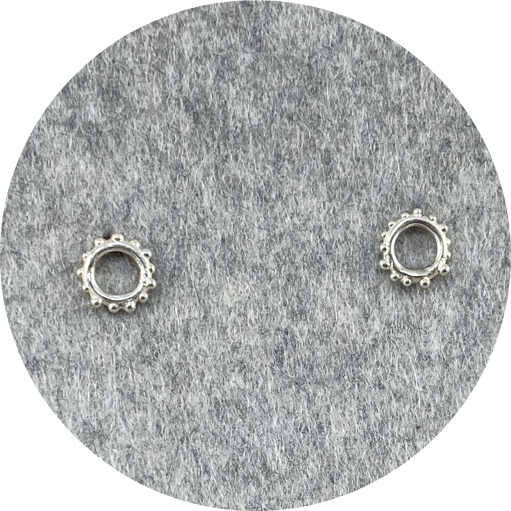 Katie Shanahan - Speckled Sterling Silver Studs