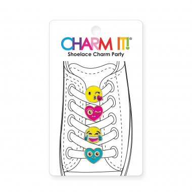 CHARM IT! - EMOJI SHOELACE CHARM PARTY SET