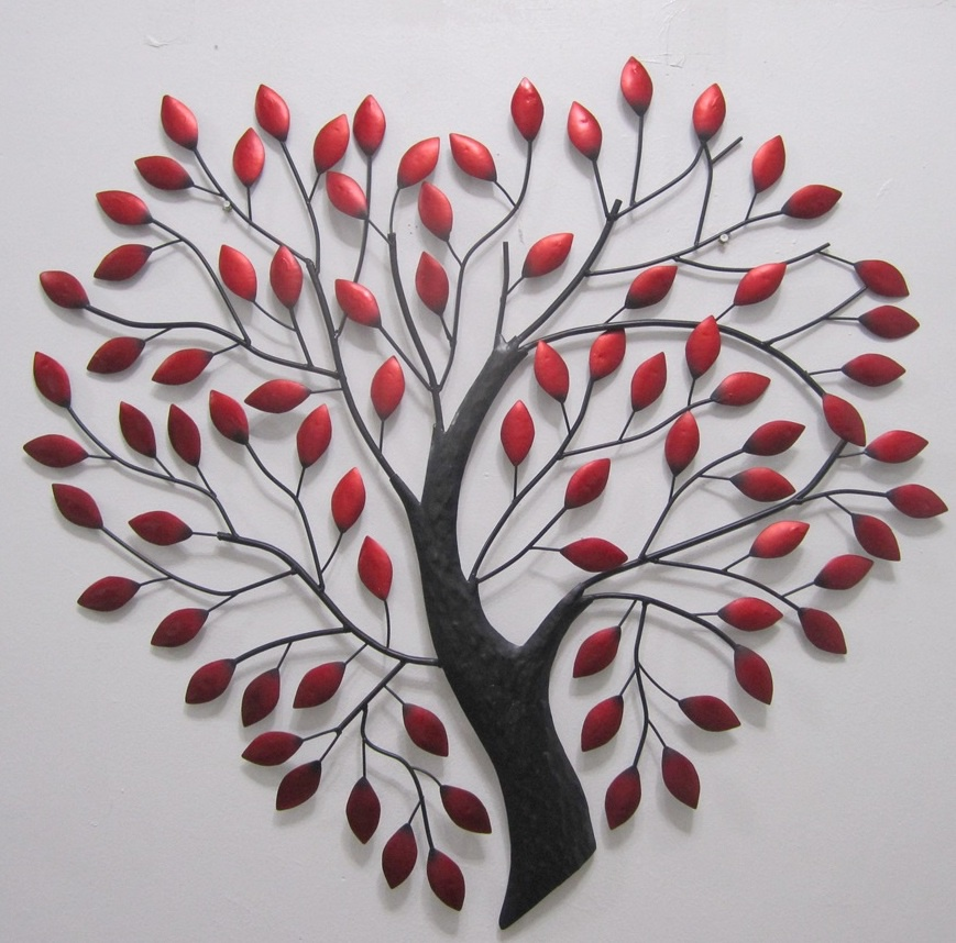 Red and black tree of heart