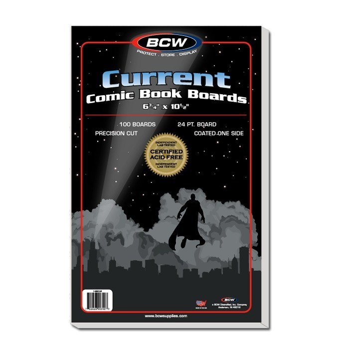 BCW Current Comic Backing Boards 100 Pack