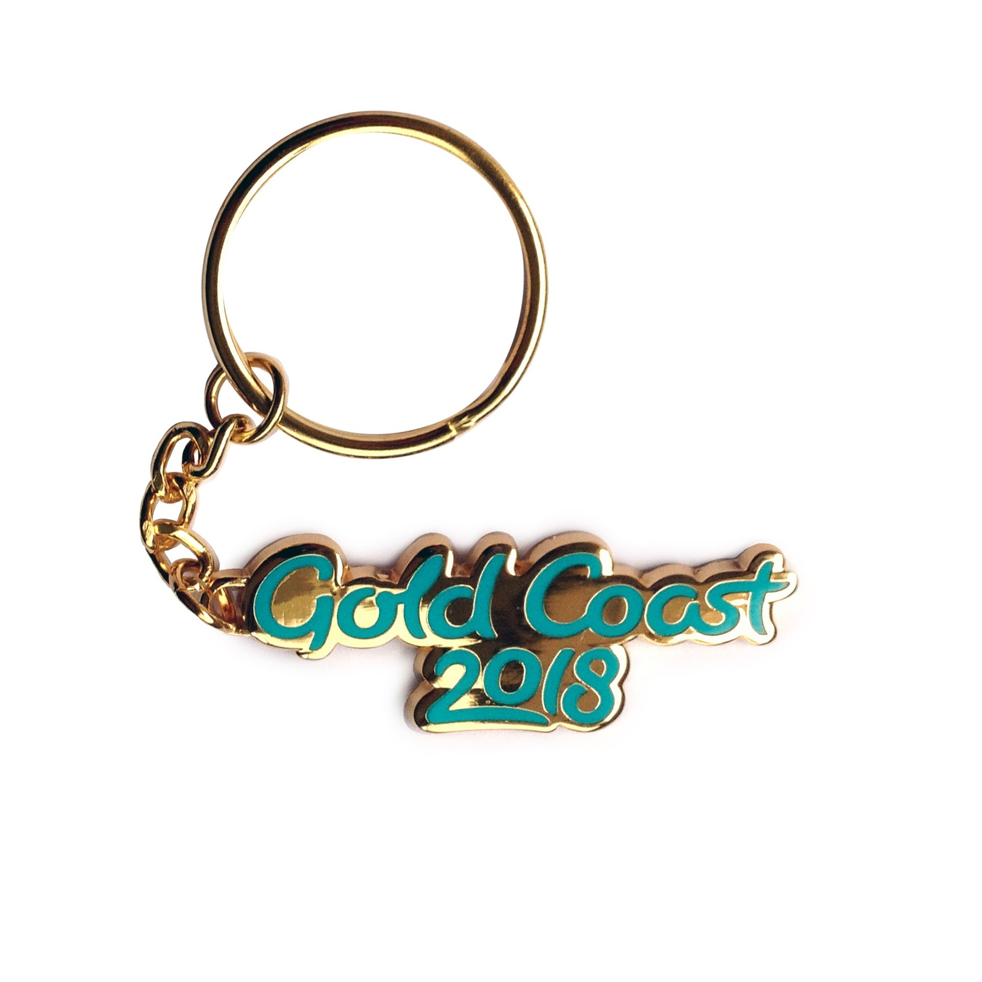 GC2018 Gold Coast Script Metal Keyring