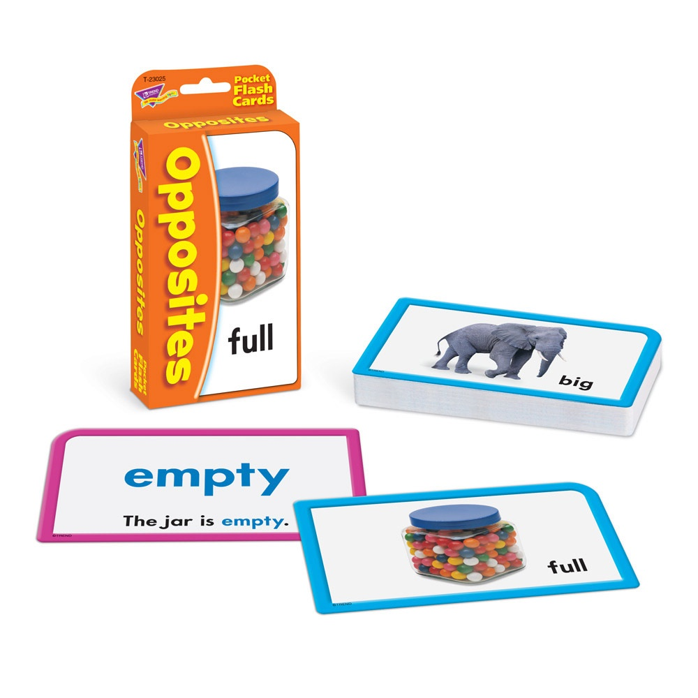 T 23025 OPPOSITES POCKET FLASH CARDS