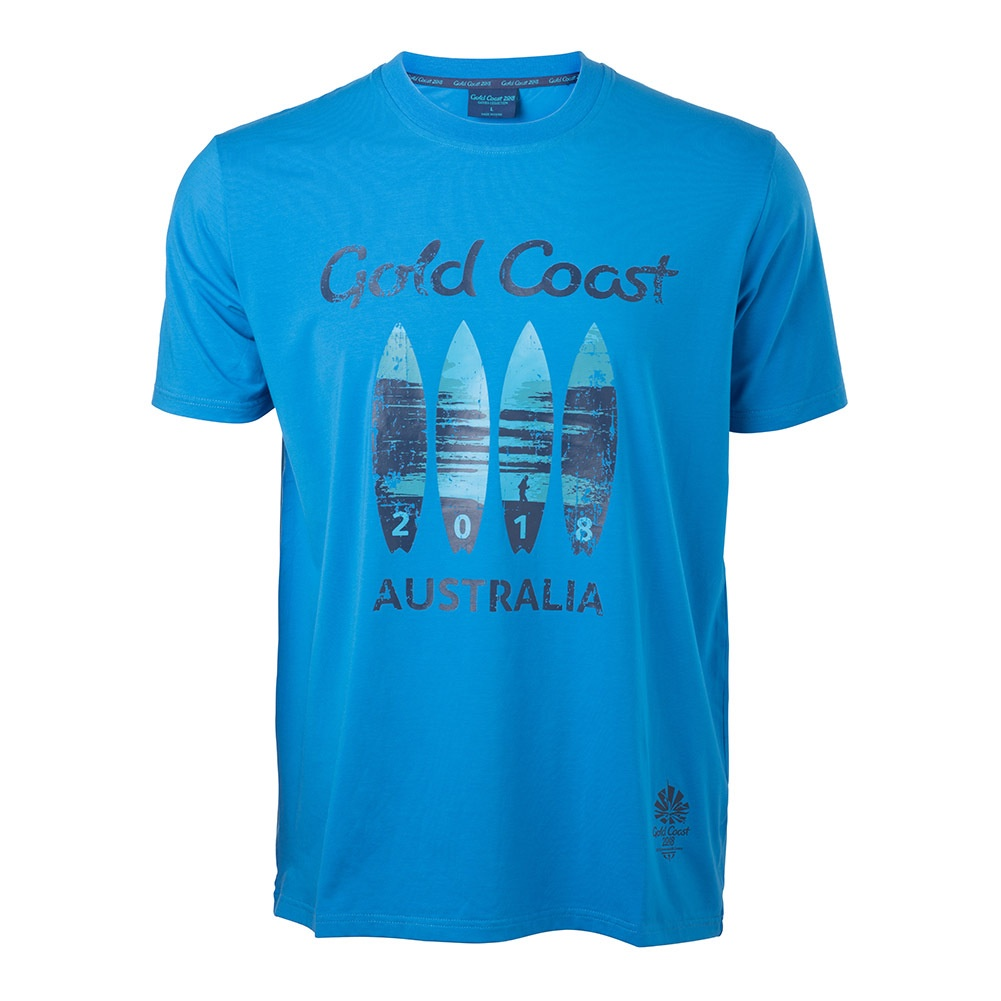 Mens Surfboard T-Shirt French Blue