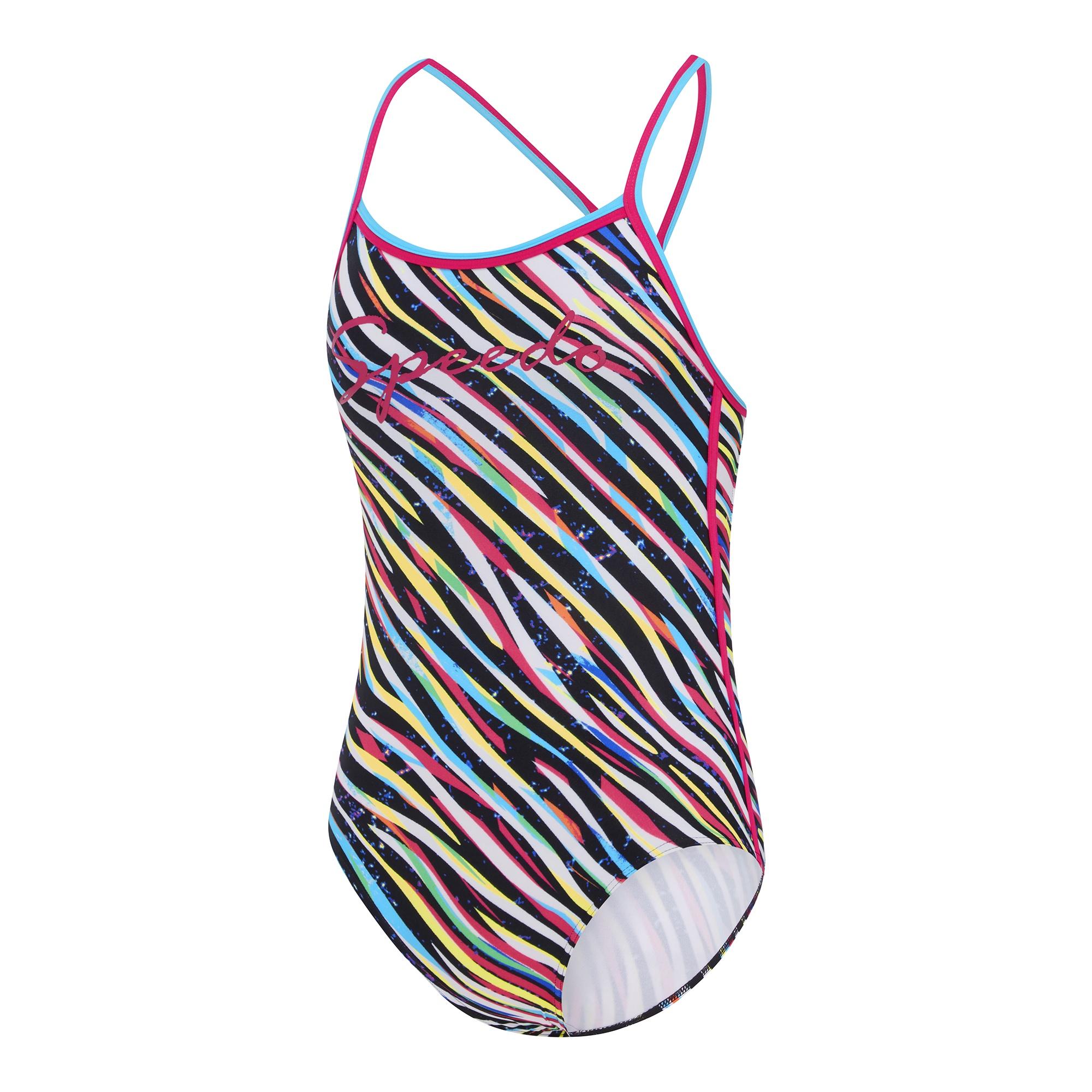 bfacbe3882dbc Girls Zebra Streak Sierra One Piece - SQ Swim Shop
