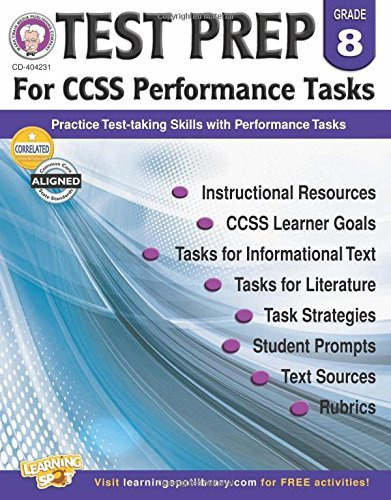 X CD 404231 TEST PREP FOR CCSS PERFORMANCE TASKS G8