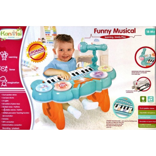 KANISI FUNNY MUSIC PIANO WITH MICROPHONE
