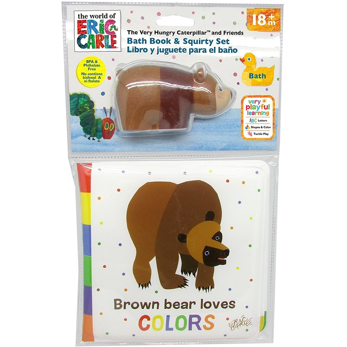 BATH BOOK BROWN BEAR LOVES COLORS