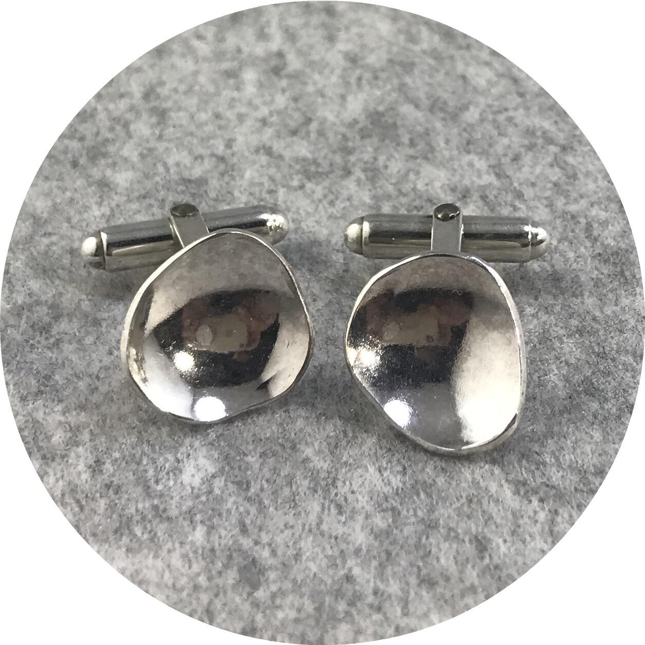 Elodie Darwish - Dish Cufflinks in Sterling Silver
