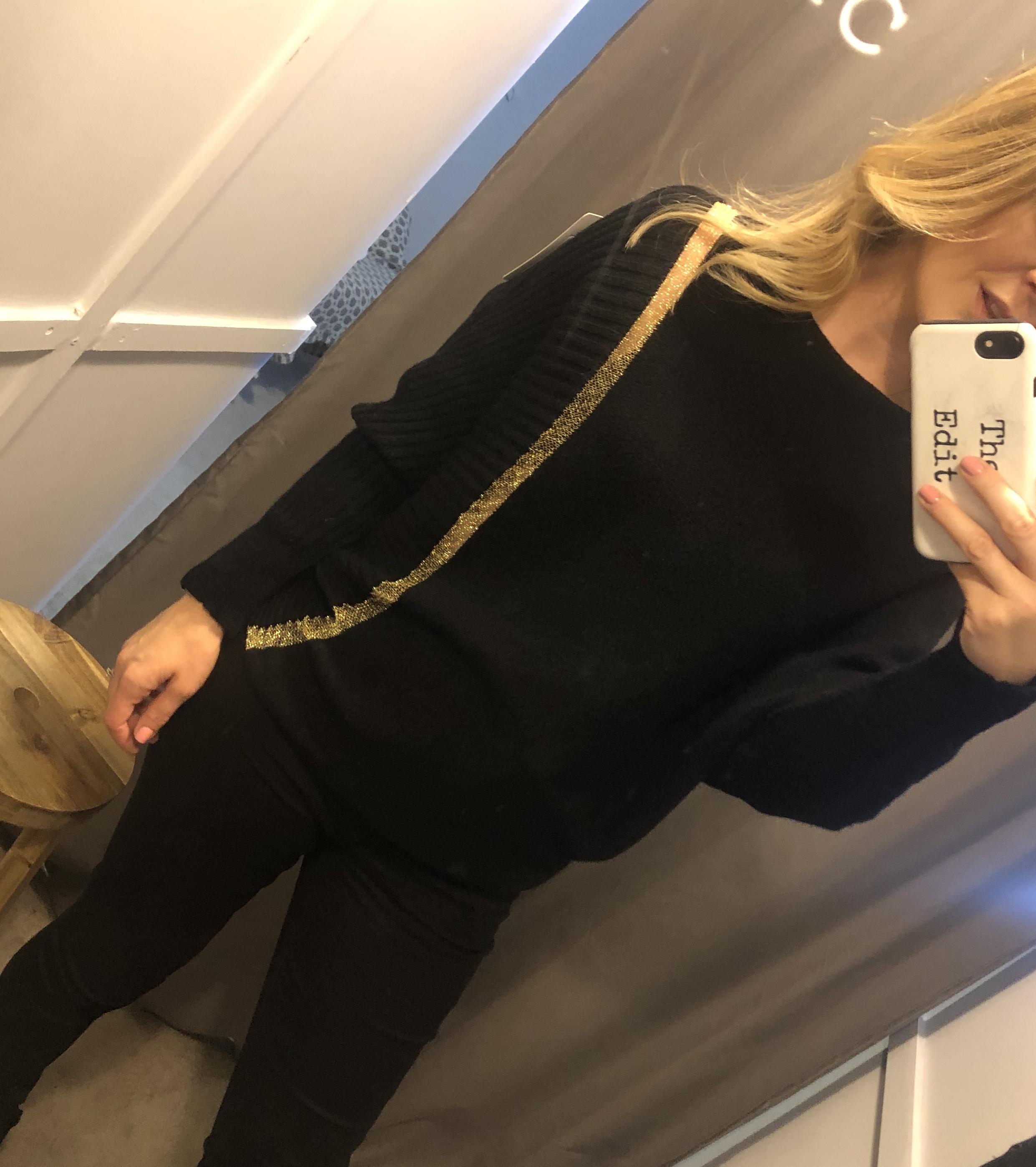Gold Stripe Knit
