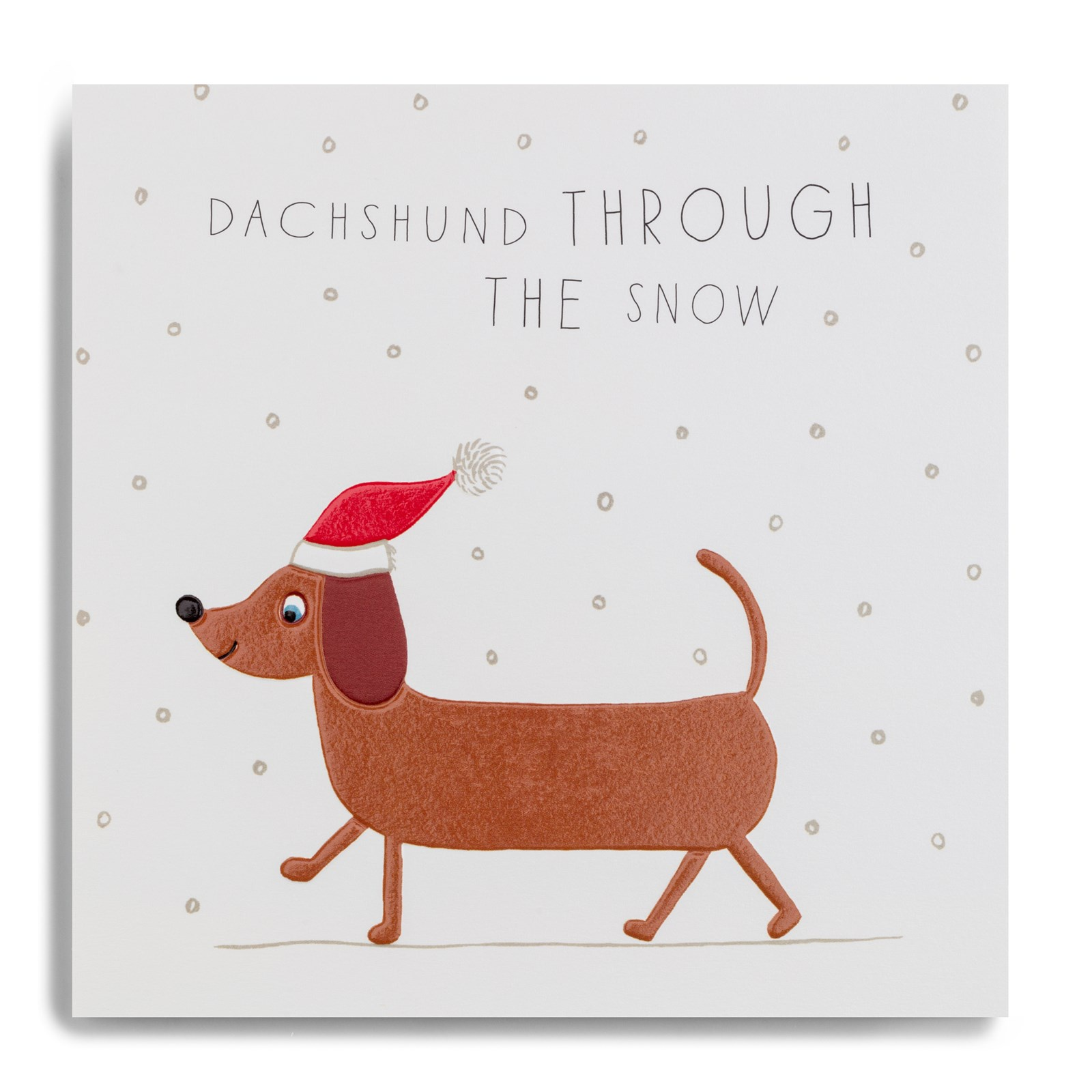 Dachshund Through The Snow Fyx14 Christmas Cards Nonsuch