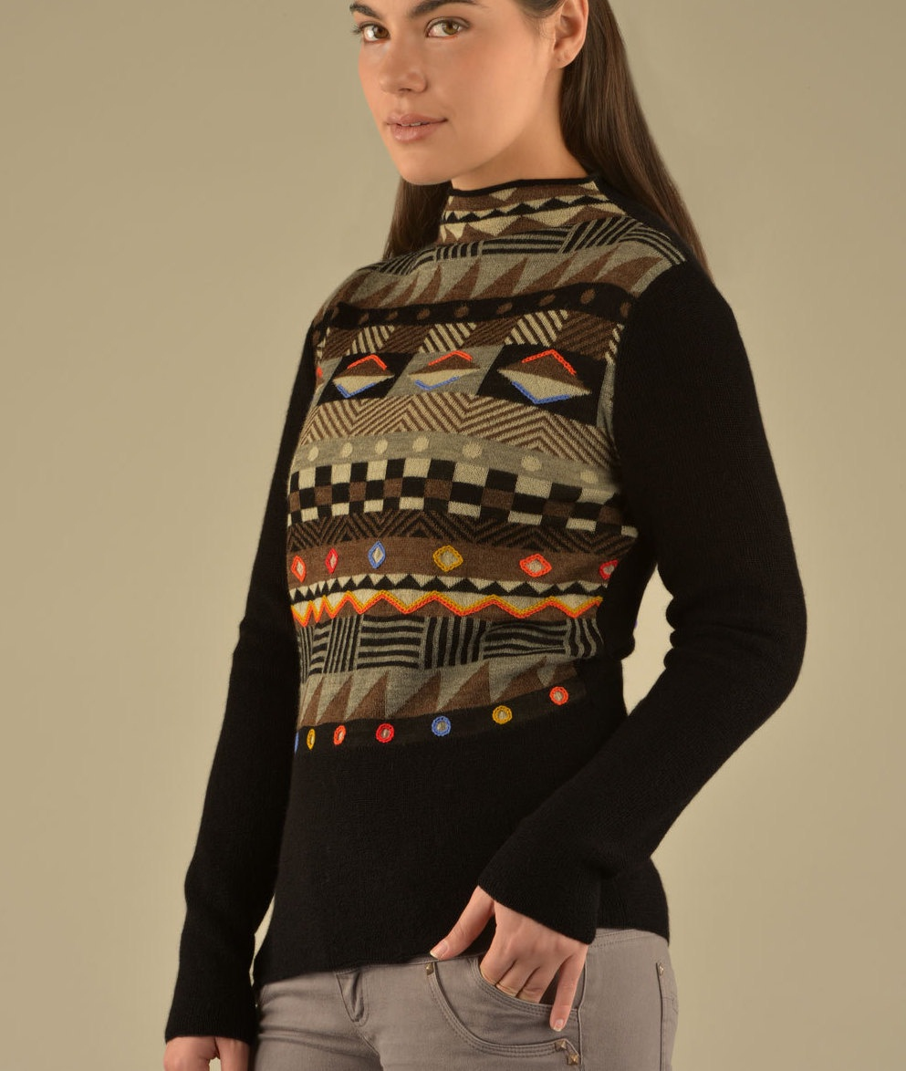 GEO DETAILED HIGH NECK PULLOVER C001