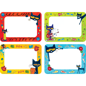 TCR 63939 PETE THE CAT NAME TAGS / LABELS