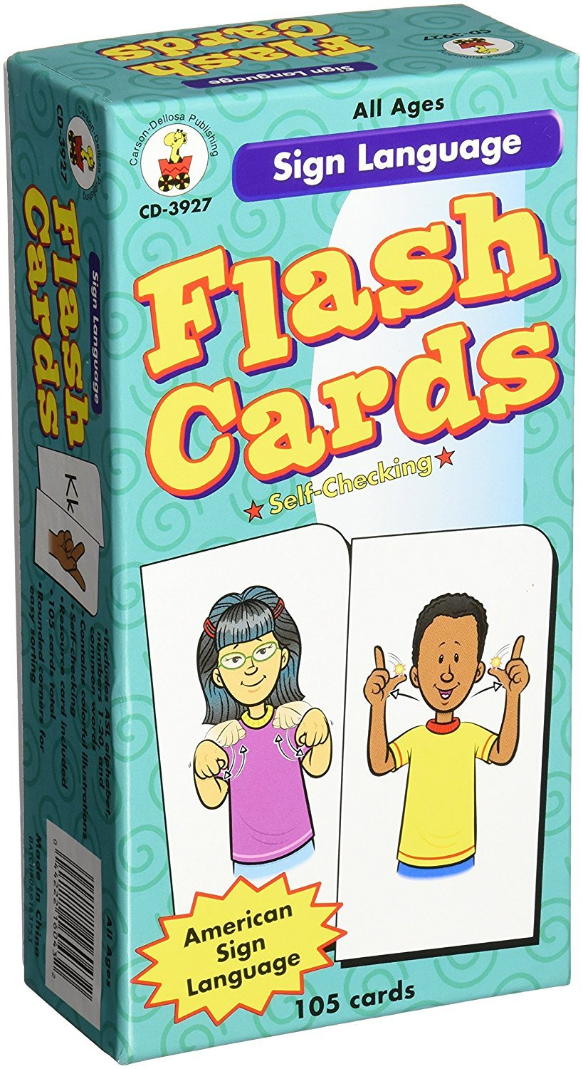 CD 3927 SIGN LANGUAGE FLASH CARDS