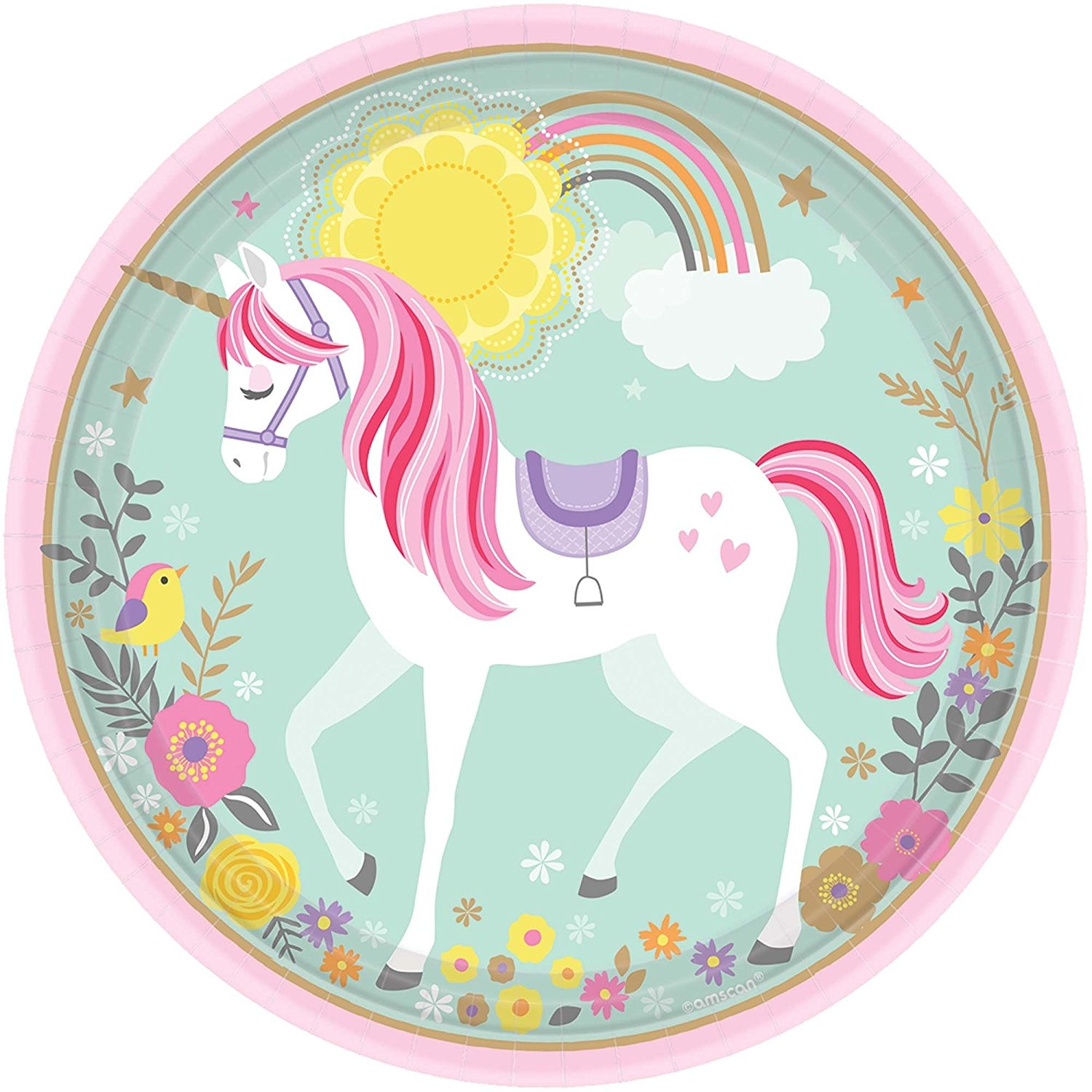 MAGICAL UNICORN 9 INCH PLATES