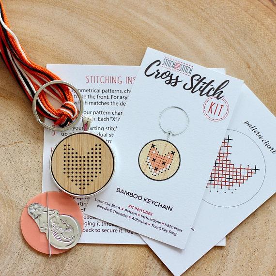 Keychain Cross Stitch Kit