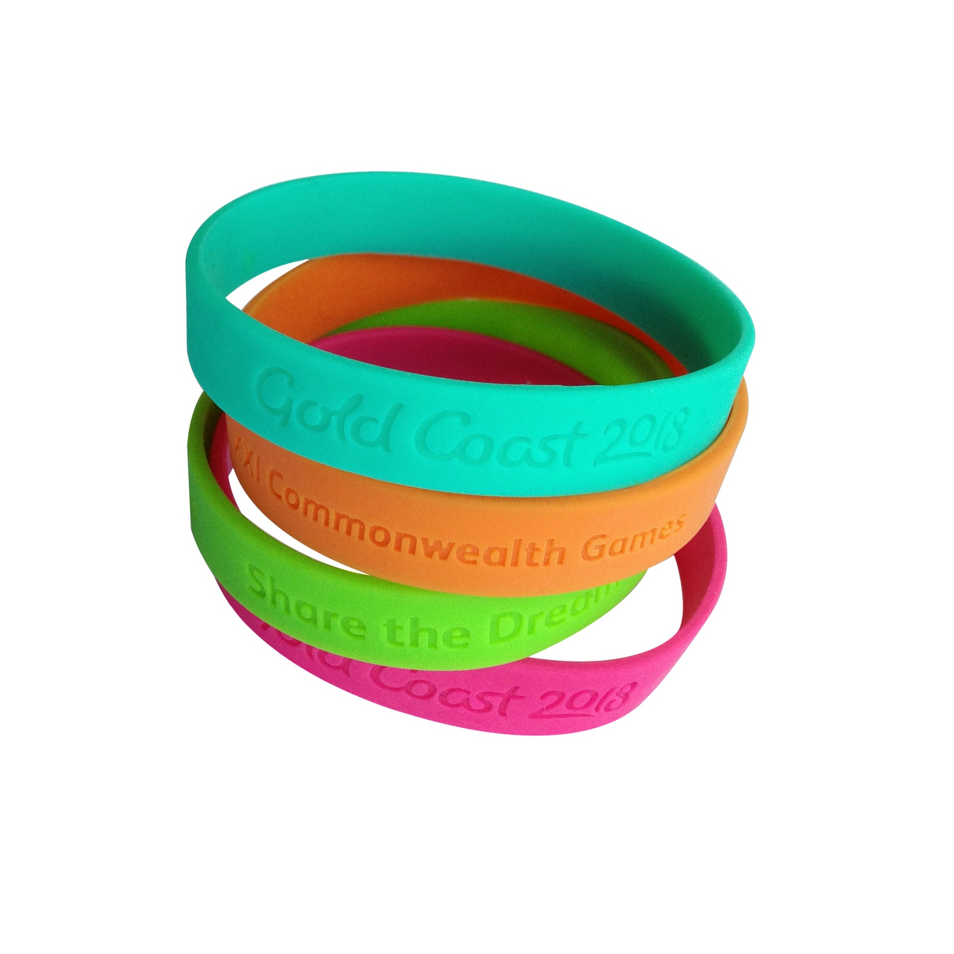 GC2018 Share the Dream Wristbands Pack 4 Image