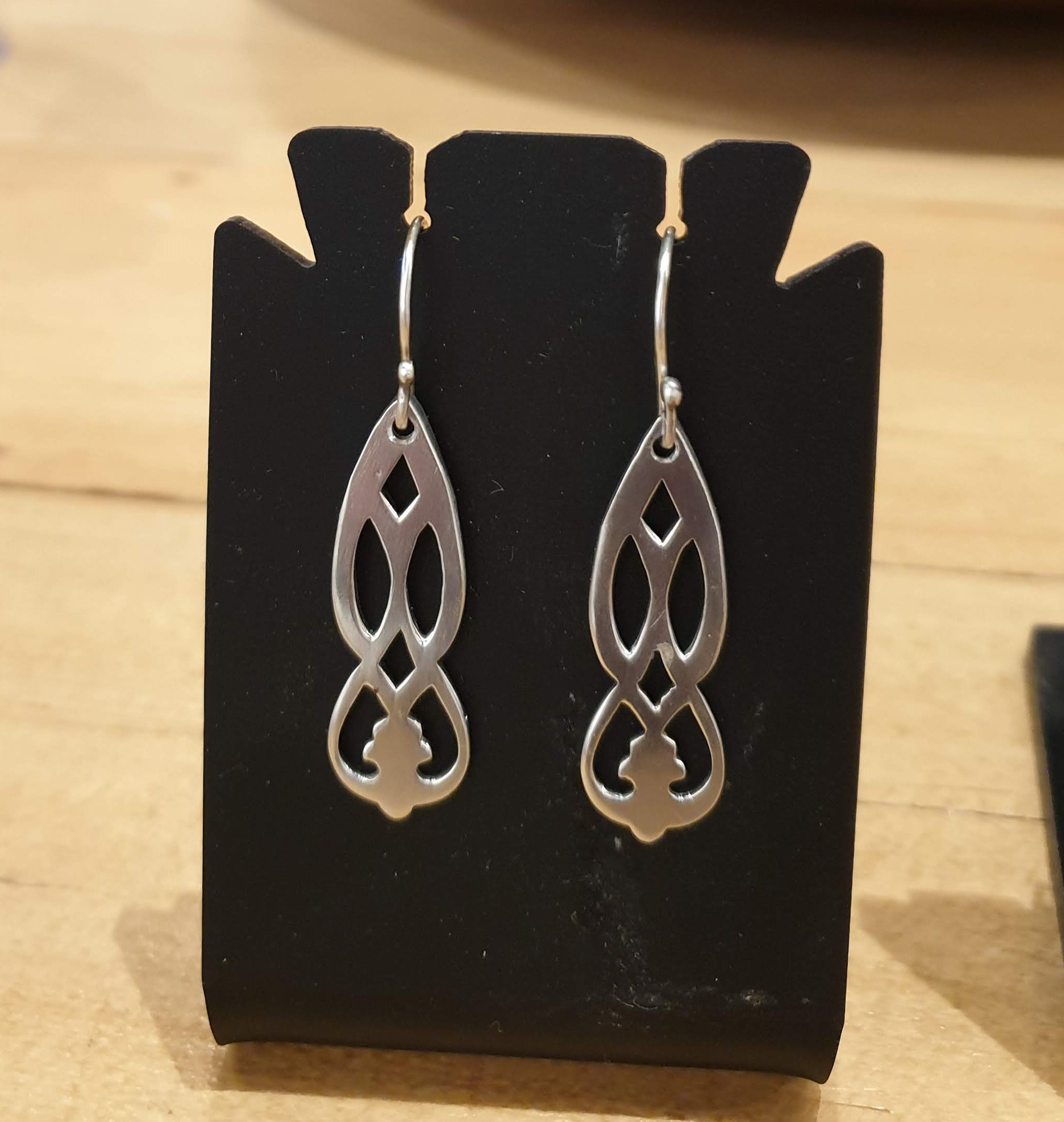 Sterling Silver earrings made from 1931 teaspoons