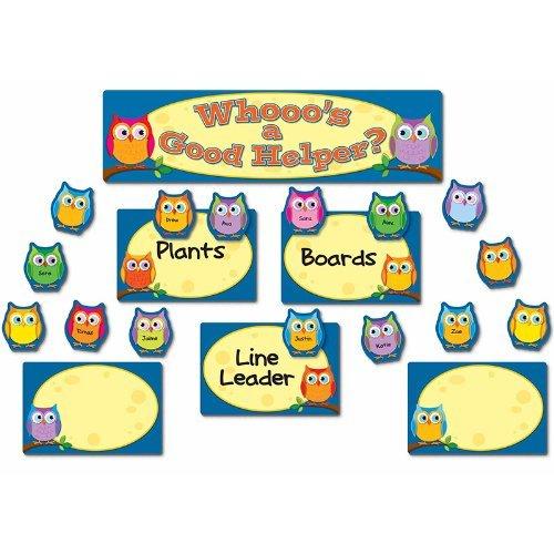 CD 110269 COLORFUL OWLS JOB ASSIGNMENT MINI BBS